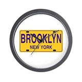 Brooklyn retro Plate Wall Clock