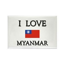 I Love Myanmar Rectangle Magnet