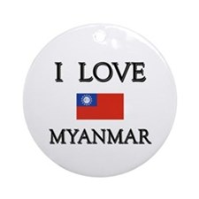 I Love Myanmar Ornament (Round)