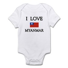 I Love Myanmar Infant Bodysuit