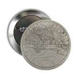 17th Century World Map Button - Introductory Price