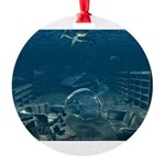 poster-denial.jpg Round Ornament