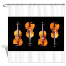 Viola / Violin Designs Shower Curtain