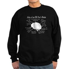 atlas of ER doc brain darks.PNG Sweatshirt