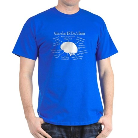 atlas of ER doc brain darks.PNG Dark T-Shirt