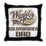 Goldmaraner Dog Dad Throw Pillow