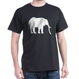 Elephant (Silhouette) Black T-Shirt