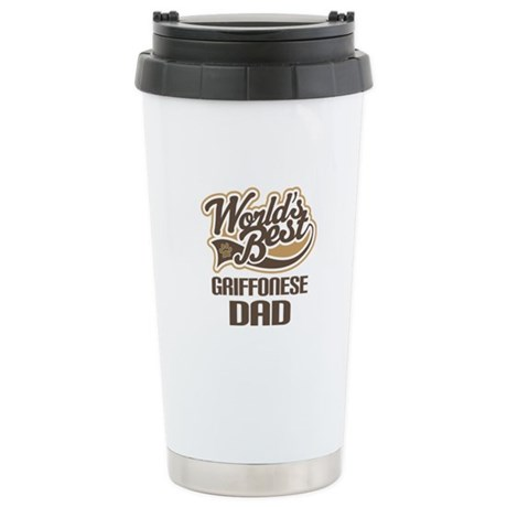 Griffonese Dog Dad Ceramic Travel Mug