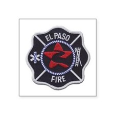 "El Paso Fire Square Sticker 3"" x 3"""
