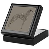 Borzoi Silhouette Jewelry Box