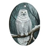 Snowy Owl Oval Ornament