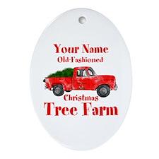 Custom Tree Farm Ornament (Oval)