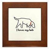 Love My Lab Framed Tile