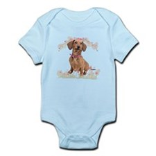Dachshund Flowers Infant Bodysuit