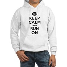 Keep Calm and Run On 26.2 Hoodie