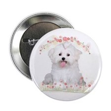 "Malti Flowers 2.25"" Button (100 pack)"