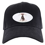 Doberman Flowers Black Cap