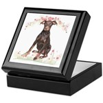 Doberman Flowers Keepsake Box