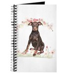 Doberman Flowers Journal