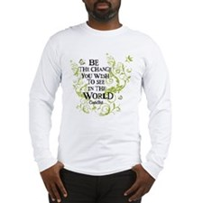 Be the Change - Green - Light Long Sleeve T-Shirt