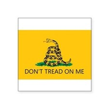 Don't Tread On Me (Gadsden Flag) Sticker (Rectangu