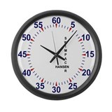 Cute Swimming Large Wall Clock