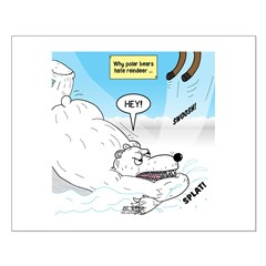 Polar Bears and Reindeer Small Poster