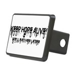 keep hope alive Rectangular Hitch Cover
