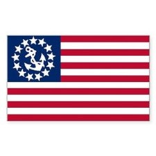 Yacht Ensign Sticker, USA