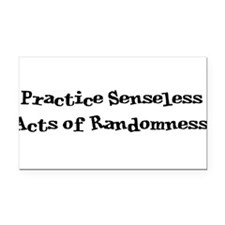 Acts of Randomness Rectangle Car Magnet