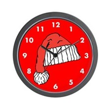 Santa Cap Christmas Custom Wall Clock