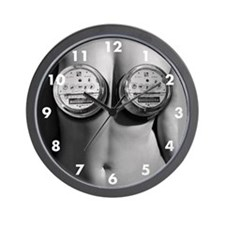 Topless Electric Meter Custom Wall Clock