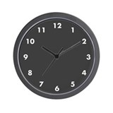 Slate Gray Custom Wall Clock