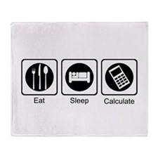 Eat, Sleep, Calculate Throw Blanket