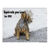 Squirrels with Personality Wall Calendar