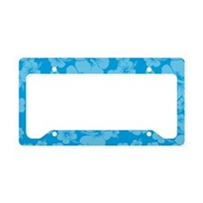 Light Blue Hawaiian Hibiscus -License Plate Holder
