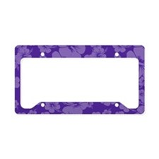 Purple Hawaiian Hibiscus - License Plate Holder