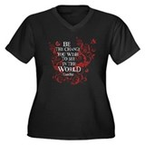 Be the Change - Red Vine Women's Plus Size V-Neck