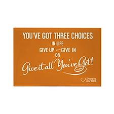 2x3 Magnet Transparent - Youve got three choices i