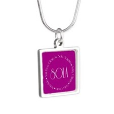 5 Solas Silver Square Necklace