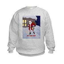 Personalized Santa on Xmas Eve Sweatshirt