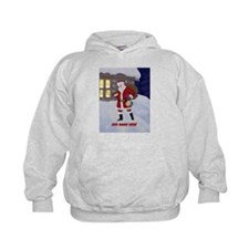 Personalized Santa on Xmas Eve Hoody