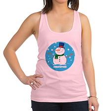 Cute Personalized Snowman Xmas gift Racerback Tank