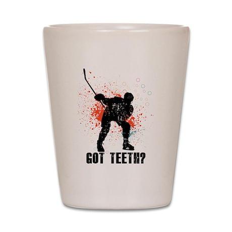 Got teeth? Shot Glass