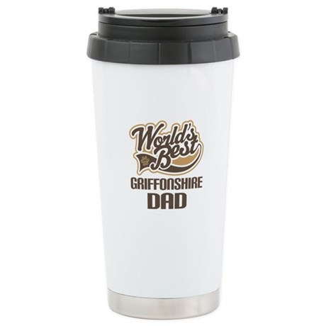 Griffonshire Dog Dad Ceramic Travel Mug