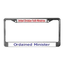 Funny Traveling License Plate Frame