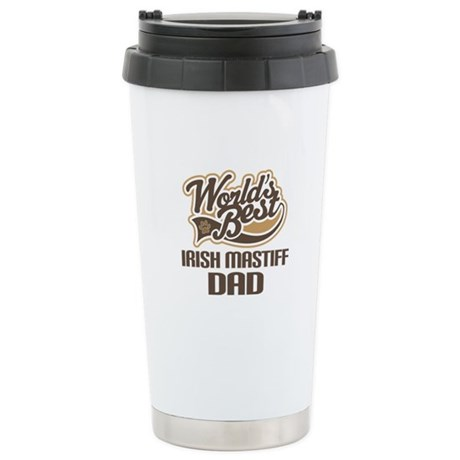 Irish Mastiff Dog Dad Ceramic Travel Mug