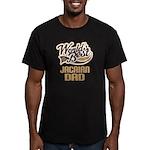 Jacairn Dog Dad Men's Fitted T-Shirt (dark)
