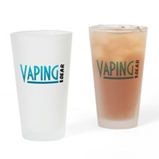 Vaping Gear Logo Drinking Glass