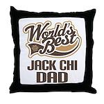 Jack Chi Dog Dad Throw Pillow